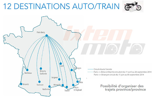 Carte France Auto/train SNCF