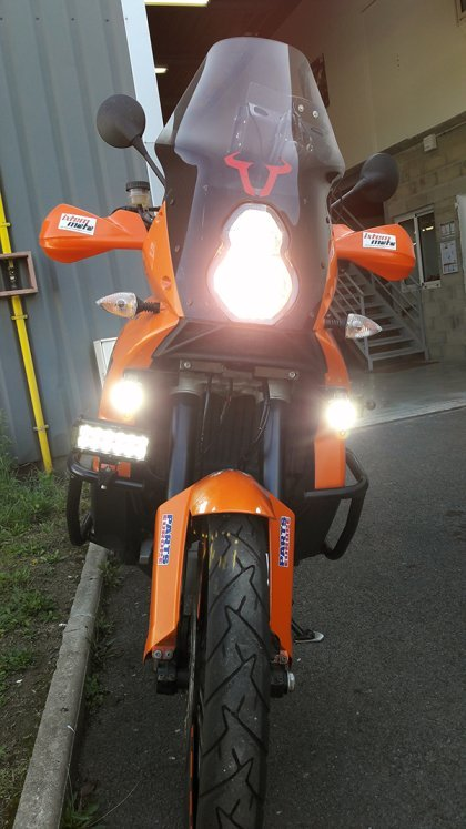 Feux additionnels KTM 990 Adventure