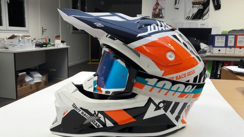 Casque cross Shot STRIKER RACEWAY 2017 ORANGE 1