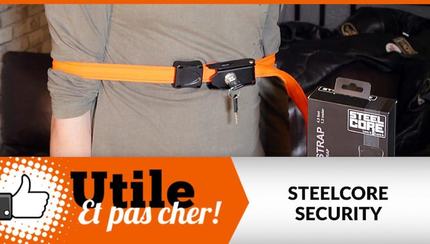sangle steelcore security moto